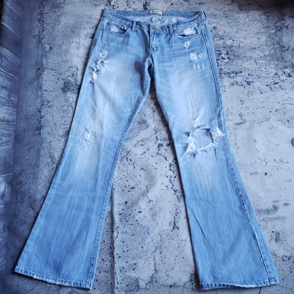 Abercrombie & Fitch Denim - Abercrombie & Fitch. Destroyed Madison Flare Jean
